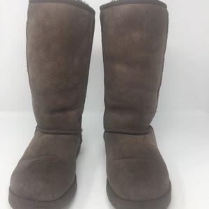 Ugg dark brown tall classic boots-7
